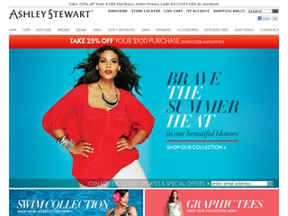 View all Ashley Stewart printable coupons