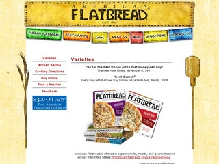 View all American Flatbread Products printable coupons