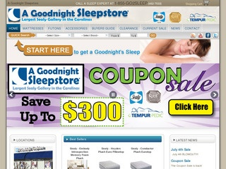 View all A Goodnight Sleepstore printable coupons