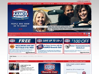 View all AAMCO printable coupons