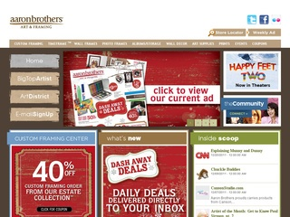 View all Aaron Brothers printable coupons