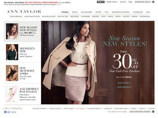 View all Ann Taylor printable coupons
