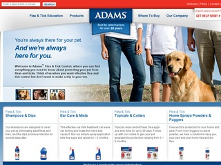 View all Adams Flea & Tick Control printable coupons
