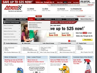 View all Advance Auto Parts printable coupons